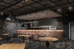Визуализация интерьера кафе-бара лофт 3