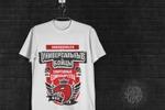 Принт на футболку для команды по единоборствам