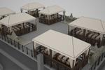 Визуализация парковки с барбекю на крыше