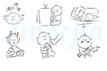 Серия простых иллюстраций для сайта