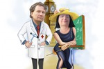 Шарж врач и педагог