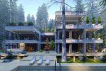 Проект и визуализация дома в Карелии на берегу  озера