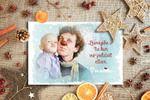 Новогодняя открытка для организации Латвийские доктора клоуны.