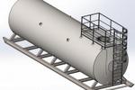 Резервуар горизонтальный стальной 75 м. куб.