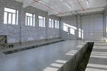 Чистовая отделка промышленного здания.