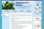 Дизайн сайта Планета Окон