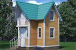 Дачный домик, моделирование и визуализация