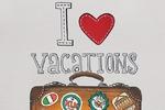 Чемодан I love vacations
