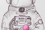 Космонавт line-art