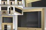 Телевизор в корпусе из дерева(2005 г.)