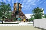Экстерьер многофункционального жилого комплекса