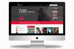 Onlinelib.com. Дизайн главной страницы онлайн-библиотеки
