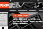 Создание графика цен на металлы для metalburo.ru