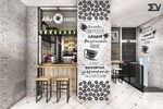 Дизайн-проект кофейни г.Москва, стиль#loft#industrial#
