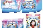 Оформление упаковки, плаката, приглашения для ледового шоу