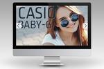 Серия баннеров для интернет-магазина часов Casio