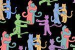 открытка Коты