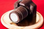 шоколадный фотоаппарат в натуральный размер