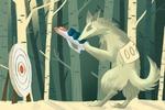 Иллюстрация волка