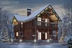 3D визуализация Зимний вид