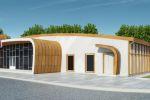 Дизайн фасада спортивного комплекса
