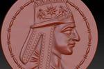 модель старинной медали