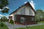 Проект дома из сип-панелей, визуализация.