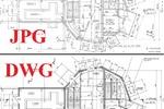 Перевод чертежей из картинки в AutoCAD (DWG)