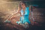 Теннисистка (художественная обработка)