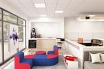 Дизайн интерьера клиентской зоны банка, г. Москва