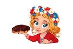 Девочка с шоколадной пастой