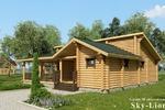 Визуализация деревянного домика