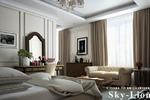 3d визуализация спальни в гостинице