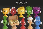 FOOD. Аналог фигурок от Stikeez.