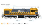 Схема окраски локомотива (Элементы фирм. стиля)