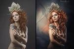 Золотая королева (художественная обработка портрета)