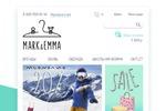 Дизайн главной страницы сайта детского интернет-магазина