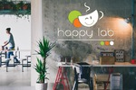 Разработка логотипа для семейного кафе Happy Lab