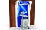 Презентационная стойка для выставки мед-оборудования