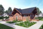 Визуализация дома из сруба для строительной компании
