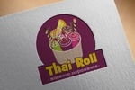 логотип для жареного мороженого