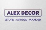 """Разработка логотипа для """"Alex-Decor"""""""