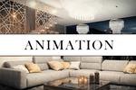 Фрагменты анимации, архитектурной, интерьерной и предметной