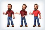 Мебельный мужик - персонаж для рекламы мебели
