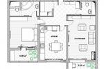 План квартиры с мебелью 1