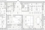 План квартиры с мебелью 2