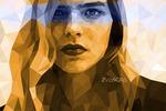 Low poly portrait/ Полигональный портрет
