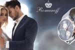 Витрина рекламная для часовой компании Romanoff