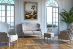 Модель дивана и кресел + визуализация в интерь. 3ds max +f-storm