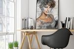Стилизация портрета карандаш и краски